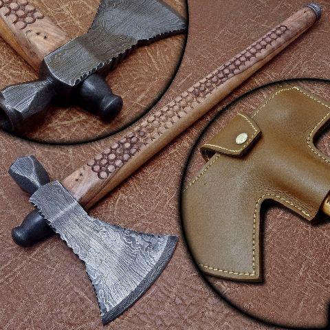 топор дамасская сталь украина, топор из дамасской стали